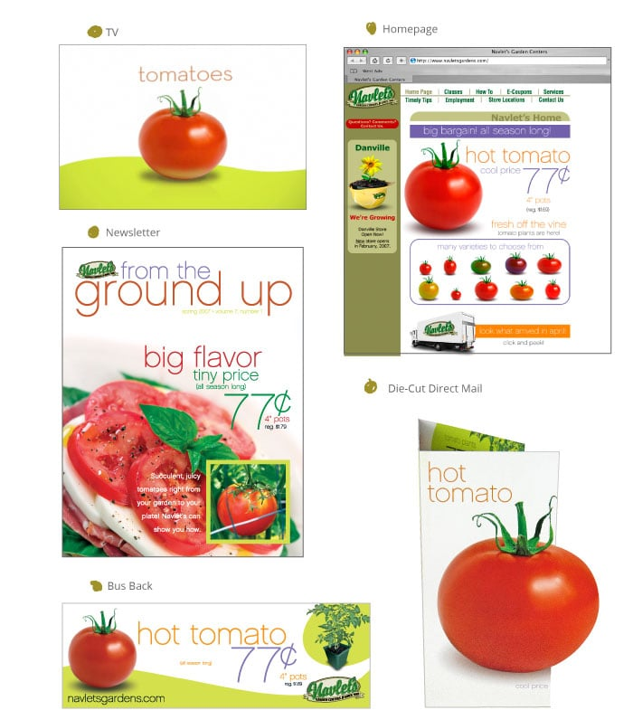 Navlet's Garden Centers Hot Tomato Campaign